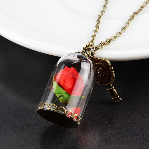Terrarium Pendant & Enchanted Rose