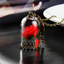 Load image into Gallery viewer, Red Rose in Terrarium Pendant Glass