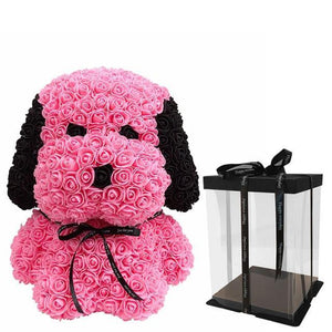 Artificial Soap Rose Dog Flower In Box