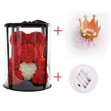 Load image into Gallery viewer, Artificial Rose Teddy Bear In Round Box
