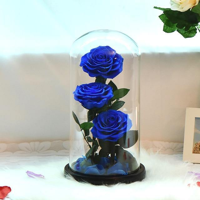 Preserved Roses In Glass Dome