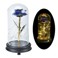 Load image into Gallery viewer, 24K Gold Rose in Glass Dome