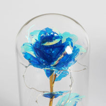 Load image into Gallery viewer, Beauty & The Beast LED Enchanted Galaxy Rose With Little Mannequins - Galaxy Rose