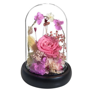 Preserved Galaxy Rose In Glass Dome
