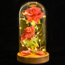 Load image into Gallery viewer, LED Enchanted Rose In Glass Dome