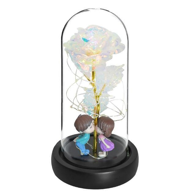 Enchanted Galaxy Rose In Glass Dome