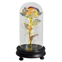Load image into Gallery viewer, Gold Foil Flowers In Glass Dome