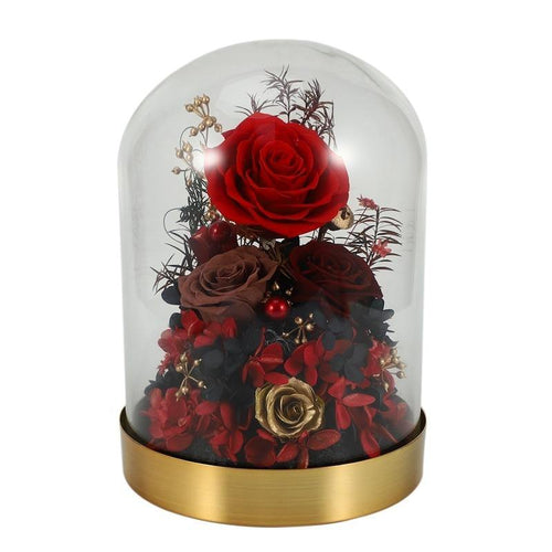 Attractive Enchanted Rose in Glass Dome