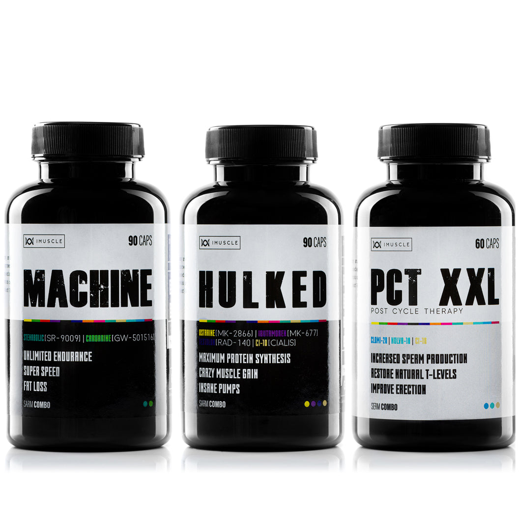 -40% iMuscle Pila de SARMS : MACHINE, HULKED, PCT XXL