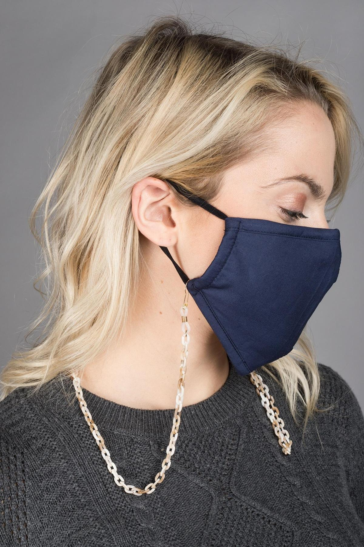 Elena Convertible Mask Chain - Sand