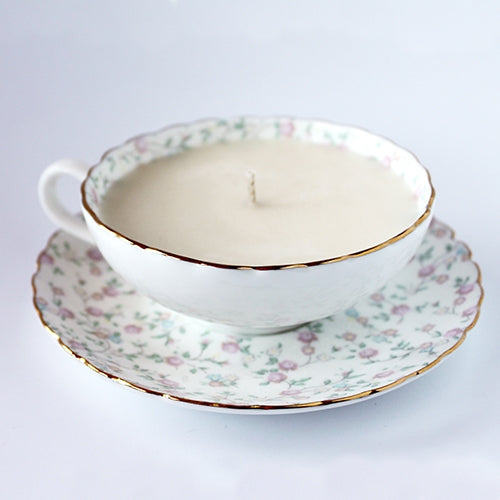Rice Flower Teacup Candle