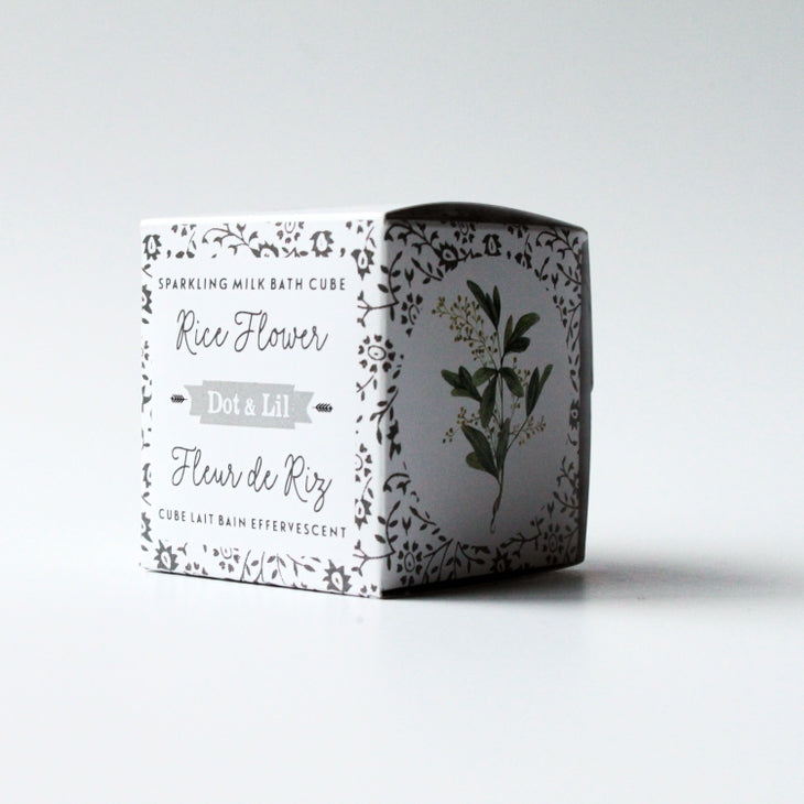 Rice Flower Sparkling Milk Bath Cube