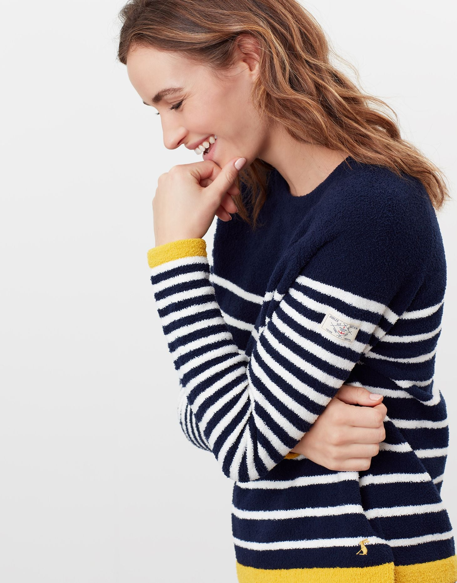 Joules-Seaport Knitted Chenille Raglan Sweater