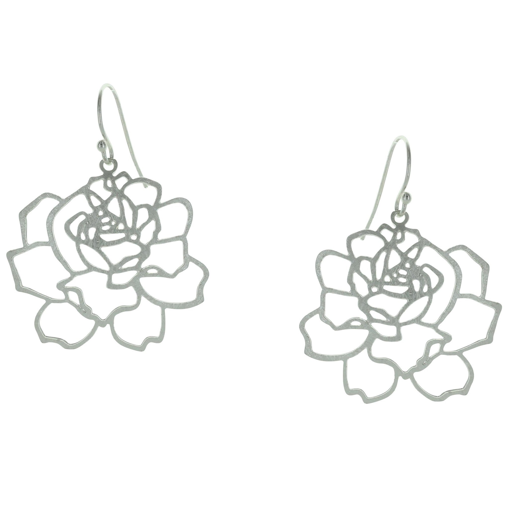 Open Rose Earrings