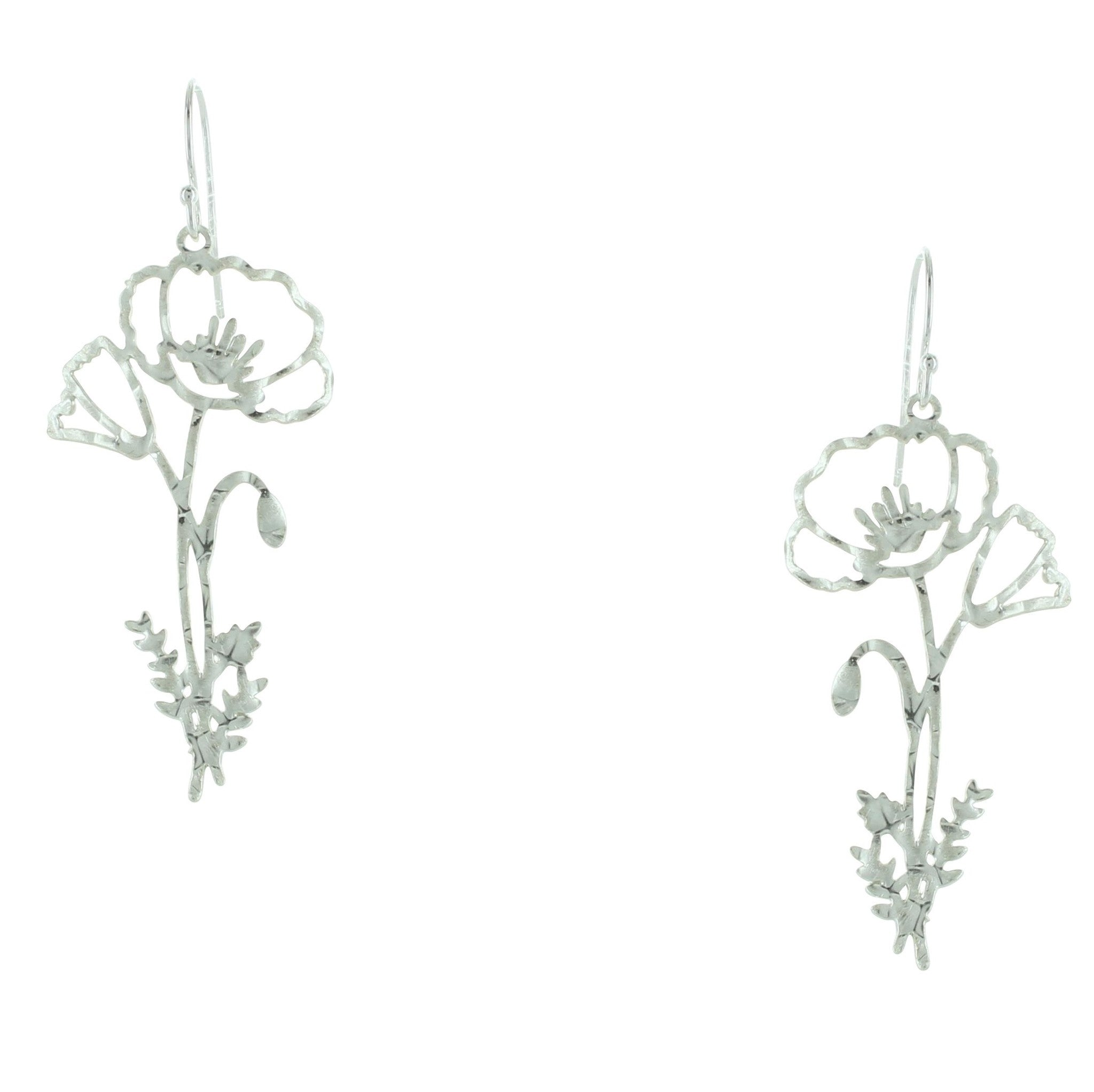 Hammered Flower Earrings