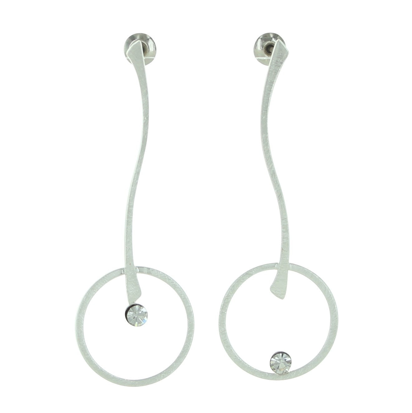 Stick & Circle Post Earrings