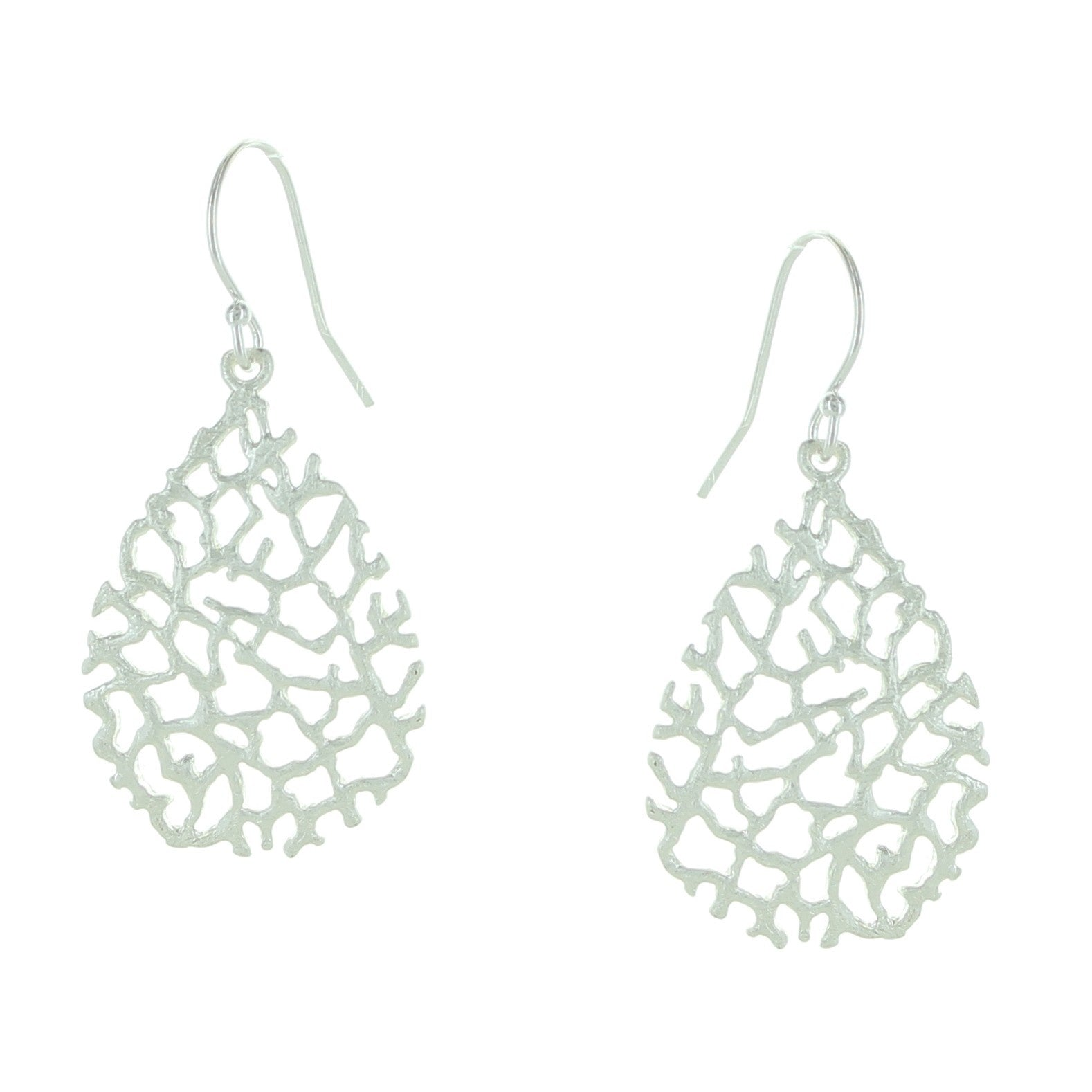 Web Teardrop Earrings