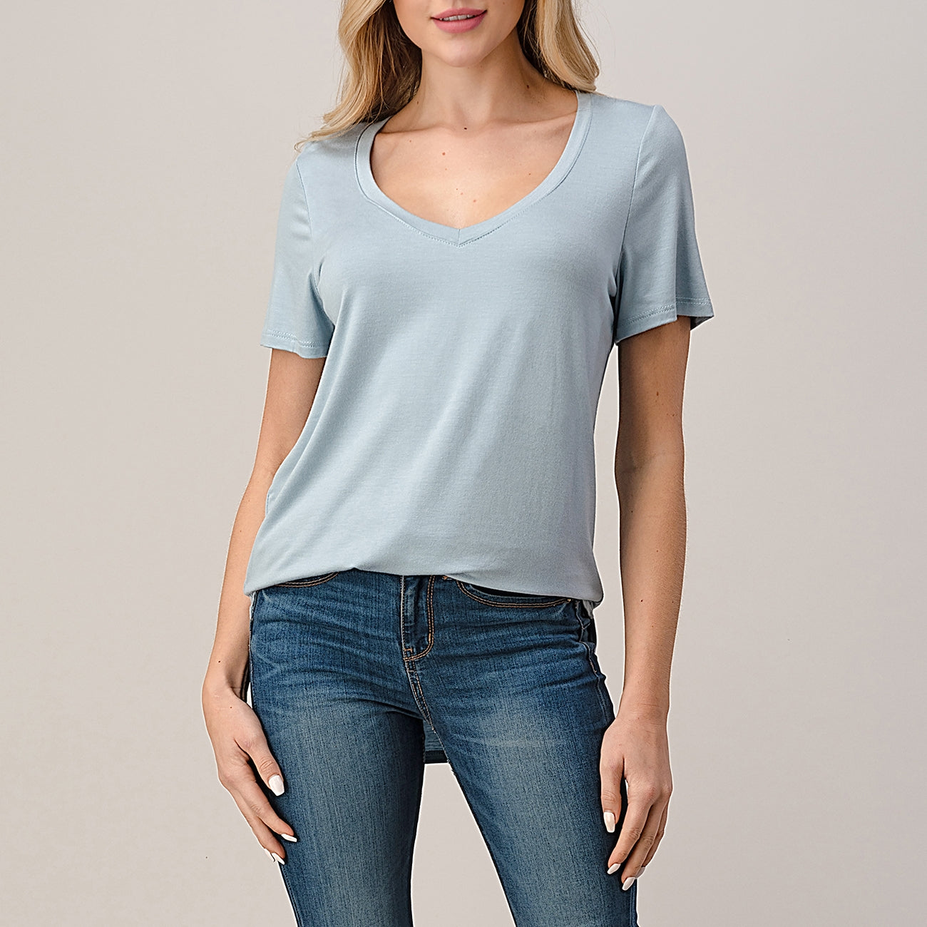 V-Neck Essential Tee - Available In 2 Colors