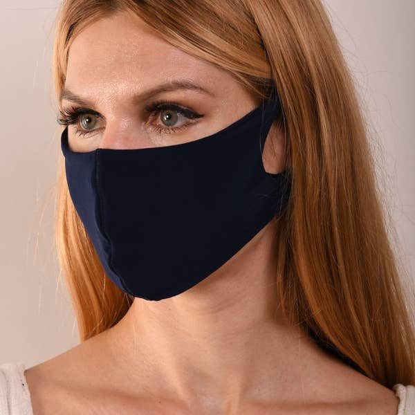 Navy Double Layer Mask