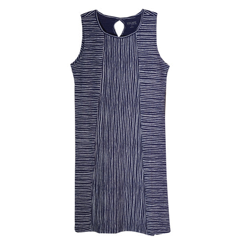 Navy Island Striped Seamed Dress