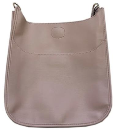 Vegan Leather Classic Messenger Bag Only No Strap - Blush w/Gold Hardware