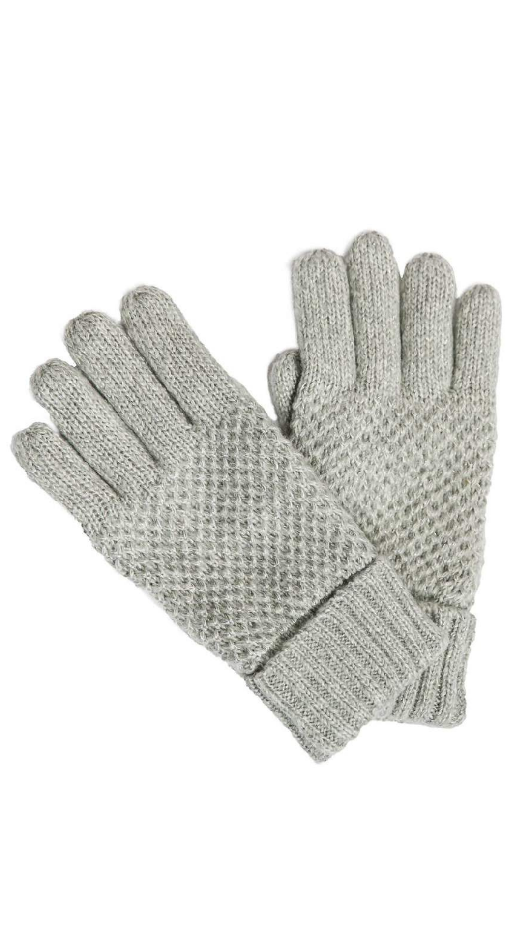 Reese Grey Gloves - FINAL SALE