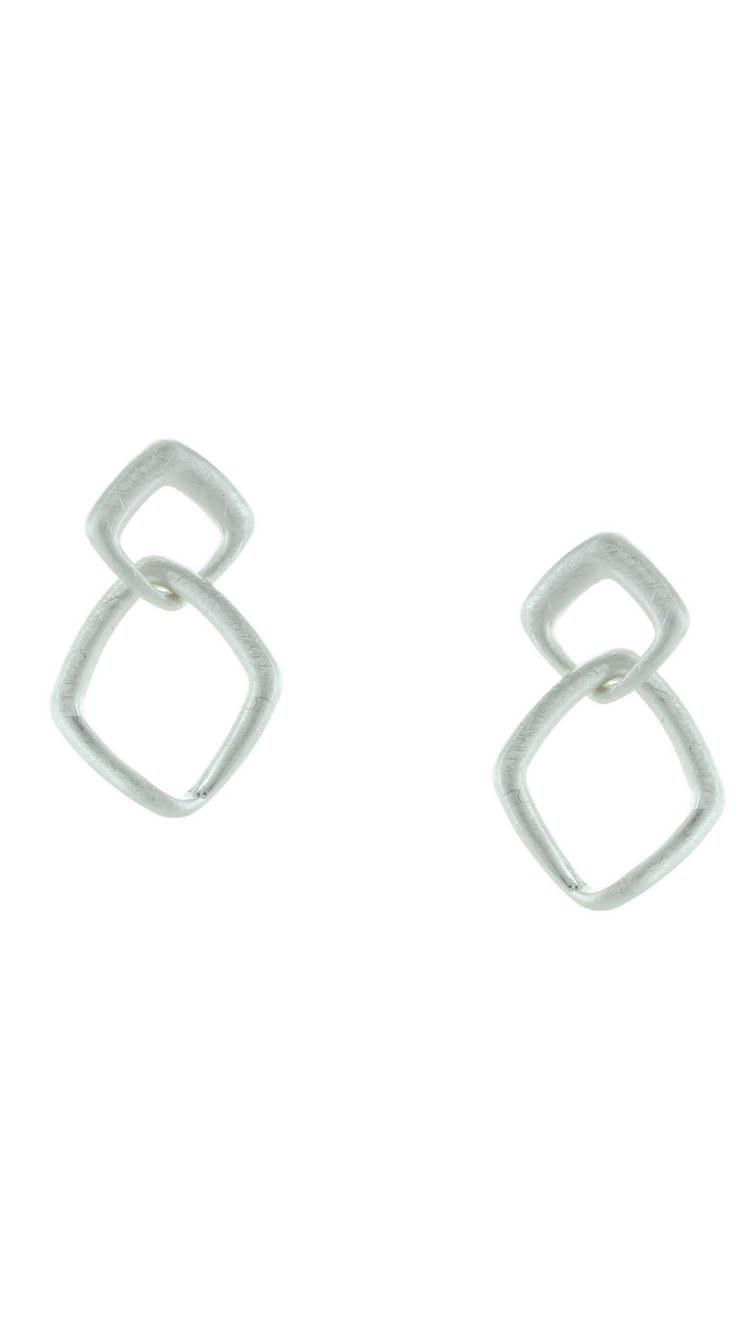 Double Open Diamond Post Earrings