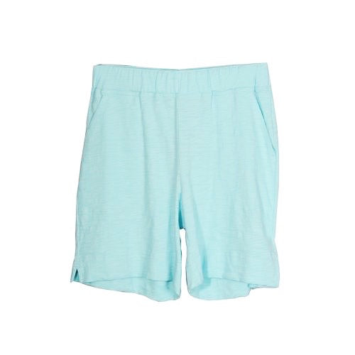 Aquamarine Cotton Slub Shorts