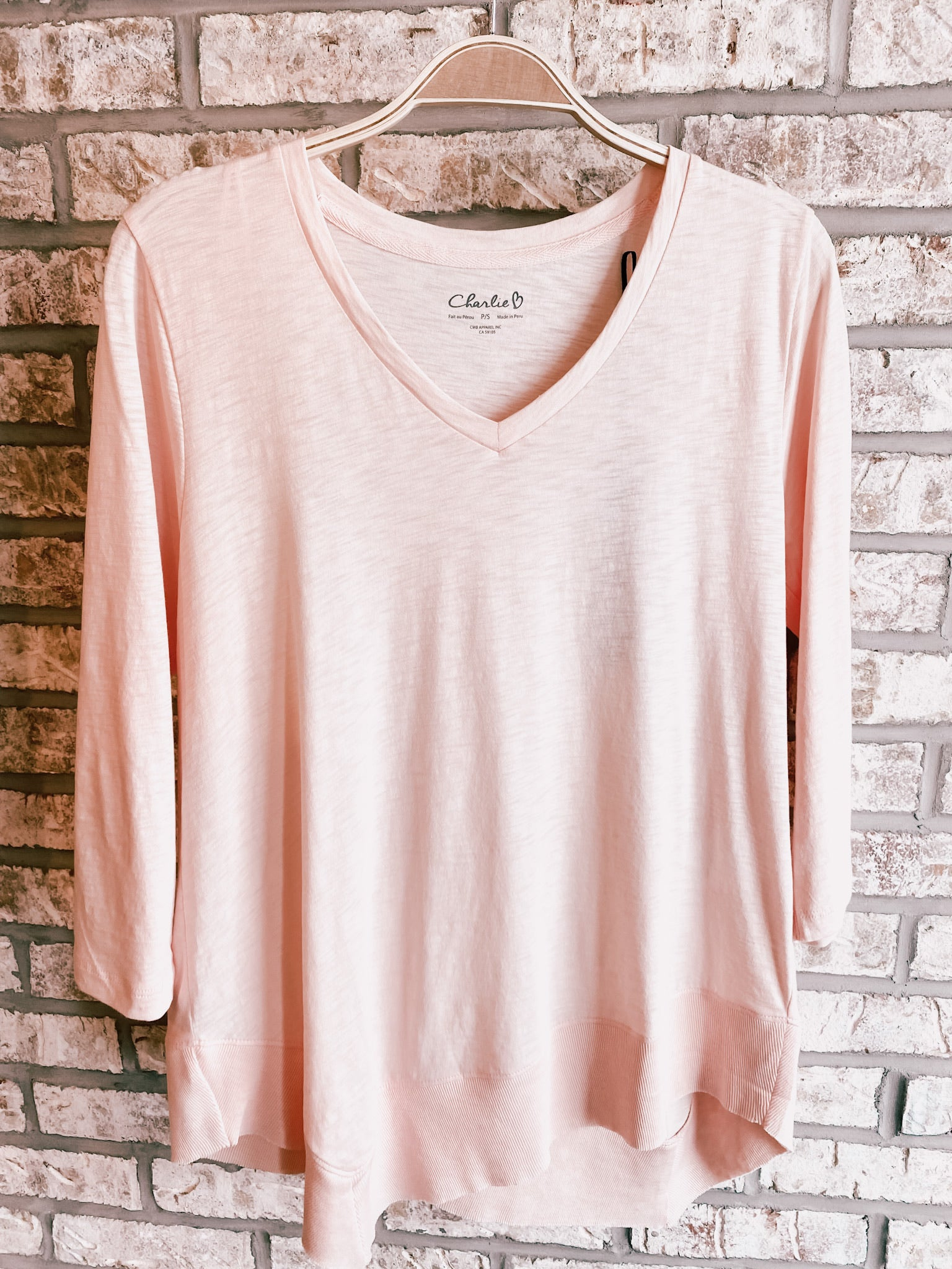 Sorbet Asymmetrical Long Sleeve Tee