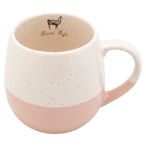 Speckled Mug w/ Color Dip-Llama