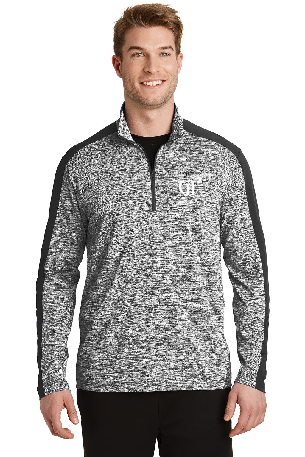 Mens 1/4 zip Heather Block Pull over - GET IT IN Apparel
