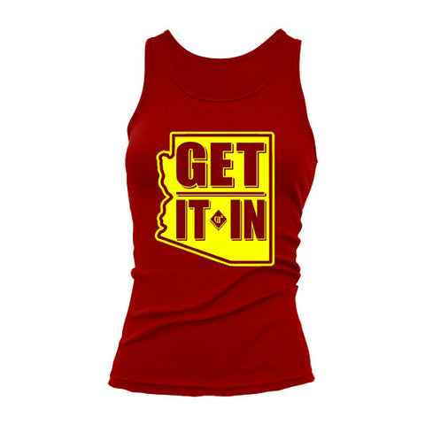 "Ladies ""ASU"" Tank top - GET IT IN Apparel"