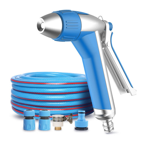 Car Washing Spray Gun 15m PVC Soft Hose Stepless Speed High-pressure Nozzle 12m Range - Auto Extra Parts