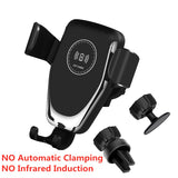 Automatic Clamping QI Wireless Car Charger Mount Infrared Sensor Fast Charging - Auto Extra Parts