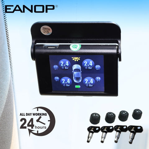 Car Solar Wireless TPMS Tire Pressure LCD screen +4 Internal or External Sensors - Auto Extra Parts