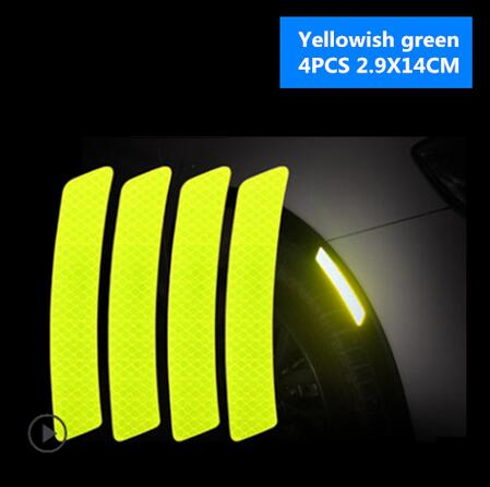 Car Reflective Tape Warning Mark sticker 4Pcs / Set - Auto Extra Parts