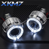Headlight Lenses Angel Eyes LED H4 H7 HID Projector Bi-xenon - Auto Extra Parts