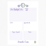 Gratitude Collection: Purple Hydrangea Monogram