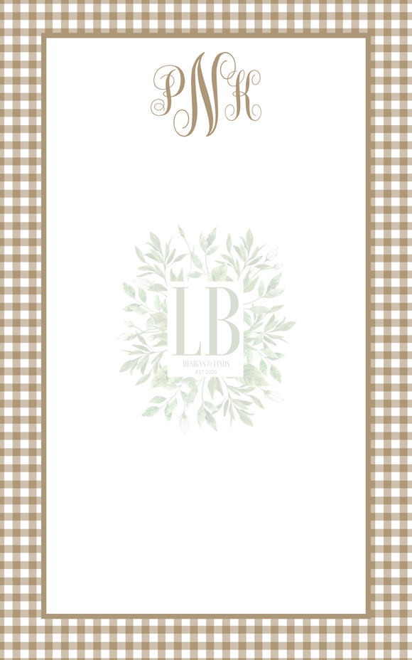 Notepad Collection | Classic Monogram
