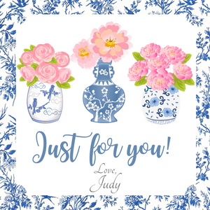 CHINOISERIE GIFT TAGS | Toile Ginger Jar Trio
