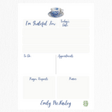 Gratitude Collection: Blue and White Teacup