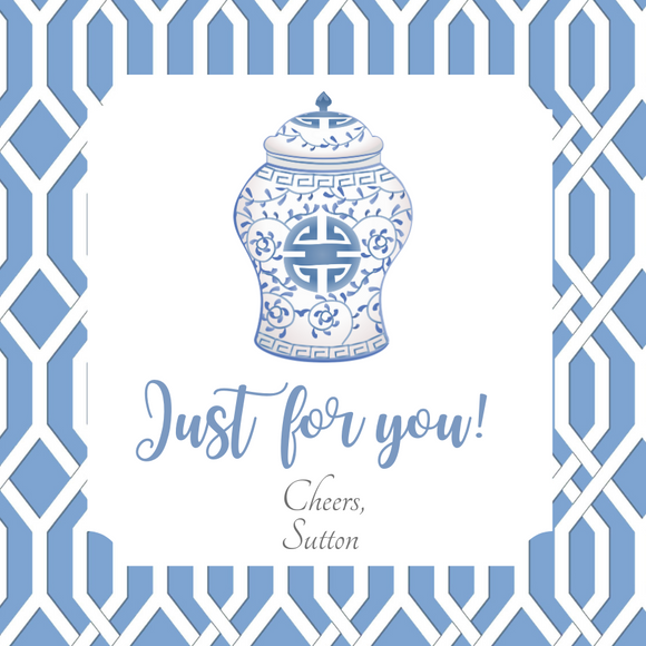 CHINOISERIE GIFT TAGS | Palm Beach and Ginger Jars