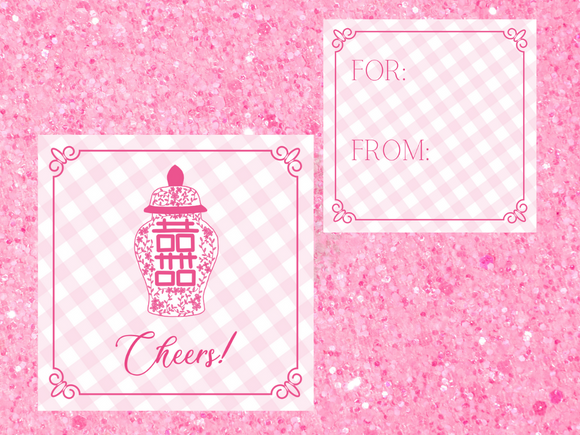 CHINOISERIE GIFT TAGS | Cheers to Pink!