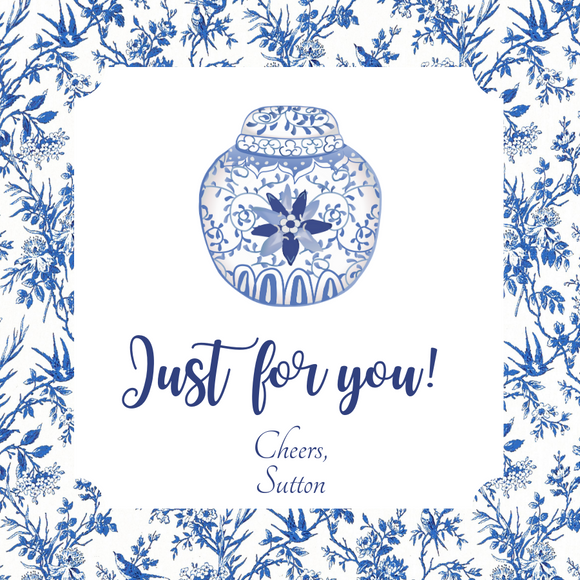 CHINOISERIE GIFT TAGS | Ginger Jar Toile