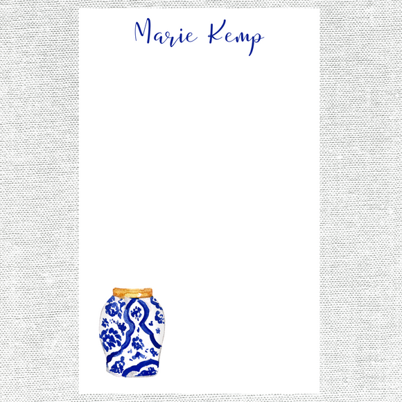 Italian Blue and White Notepad