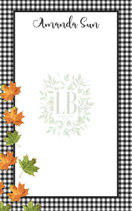 Fall Notepad Collection | Autumn Leaves