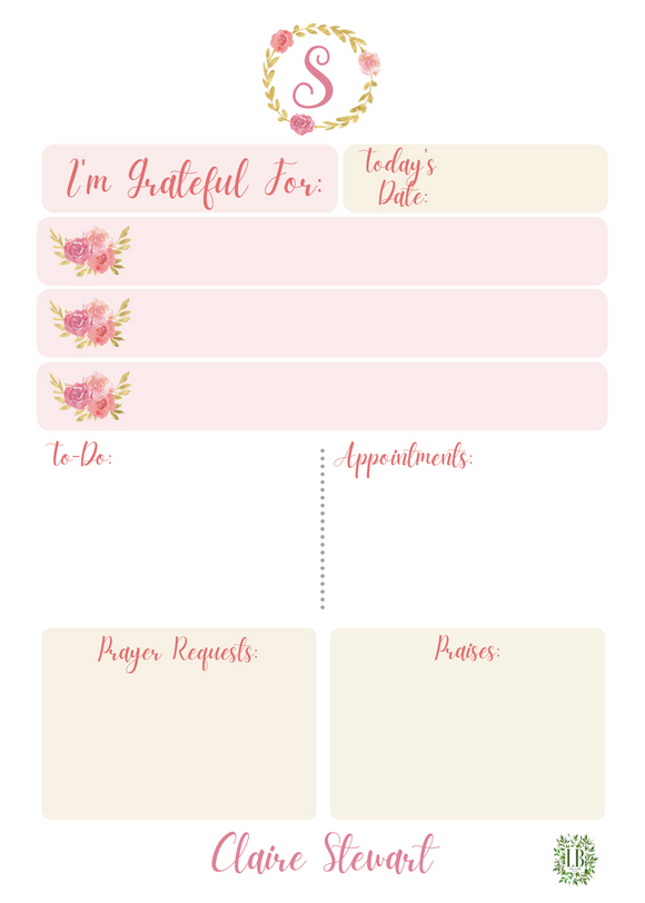 Gratitude Collection: Pink Floral