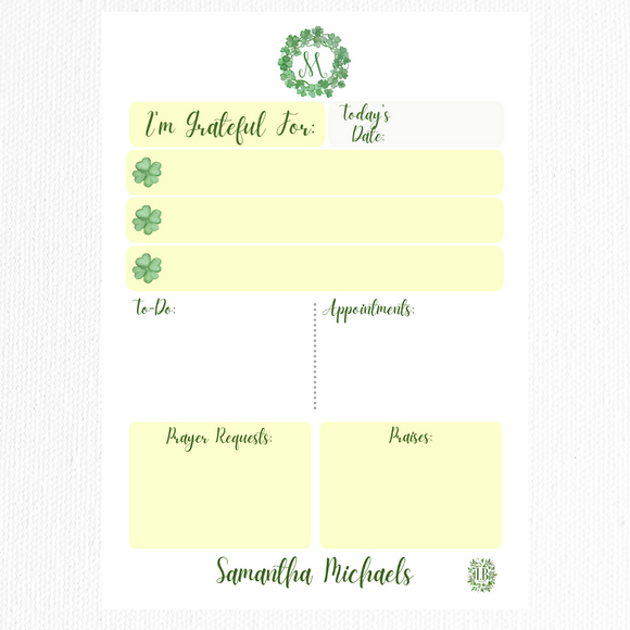 Gratitude Collection: Green with Gratitude (Monogram)