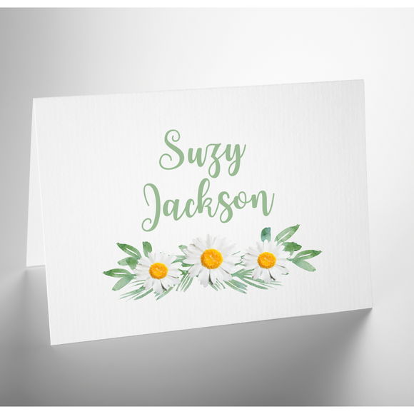 Personalized Folded Note Card | Delightful Daisys