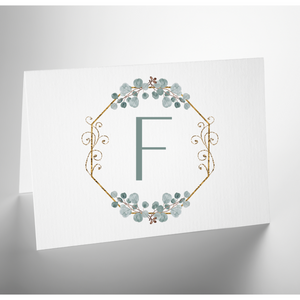 Personalized Folded Note Card | Sophisticated Salutations Opt 2